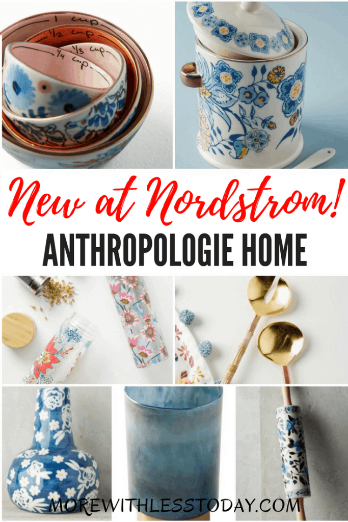 Anthropologie Home New at Nordstrom - For the first time in their history, Anthropologie bedding, serveware,and home decor are available outside of their stores and are now available at Nordstrom, just in time for Mother's Day.