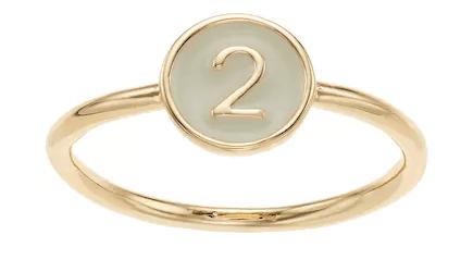 LC Lauren Conrad Monogram Number Ring Kohl's