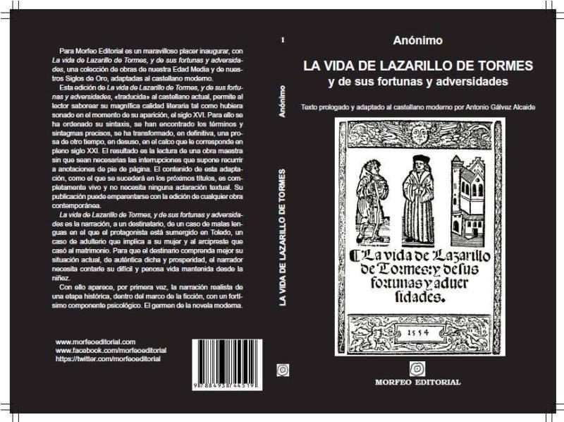 Cubierta de La vida de Lazarillo de Tormes, al castellano actual