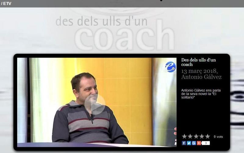 Antonio Gálvez, entrevistado por Jordi Planes, sobre su novela El solitario