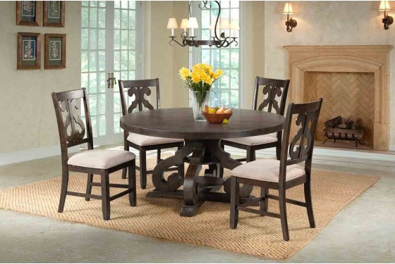 Stone Round Table Dining Room Mor Furniture For Less