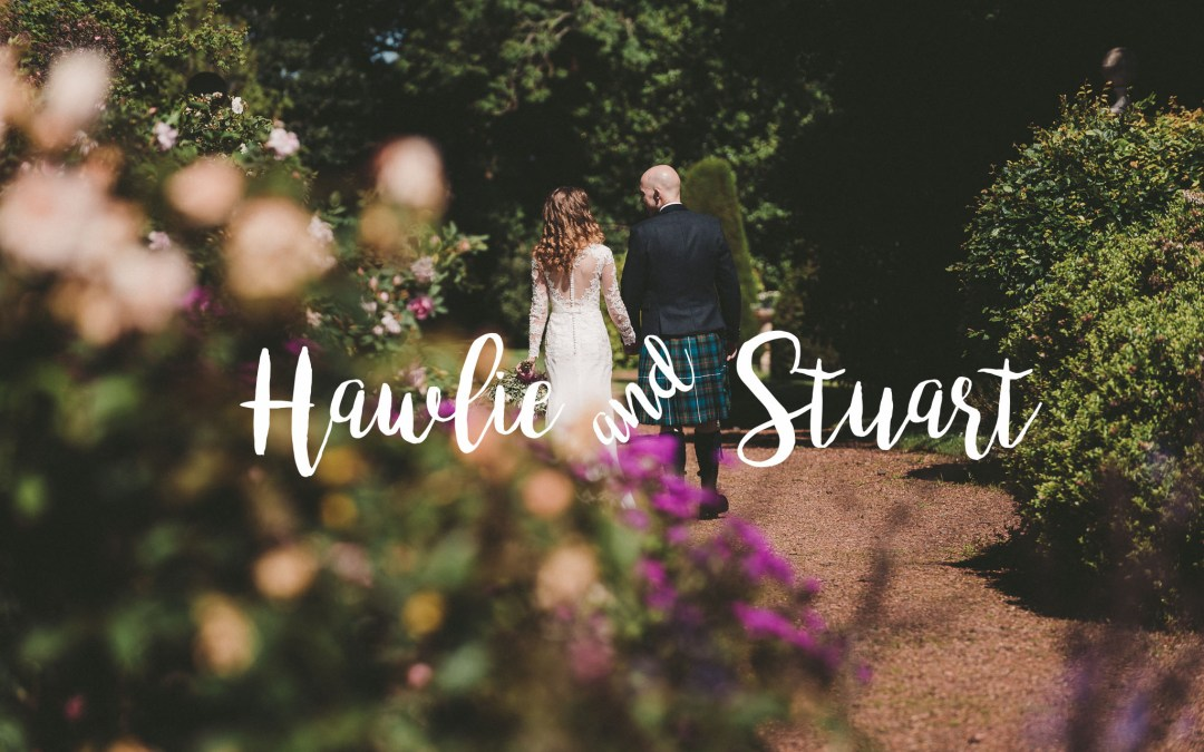// Hawlie + Stuart married at Kirknewton House Stables