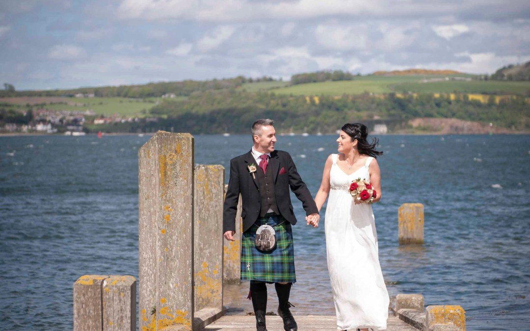 Keith + Kelly are Married at Inchcolm Island