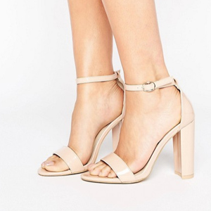 sandales a talons nude