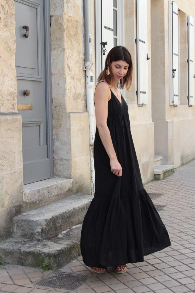robe longue noir ete