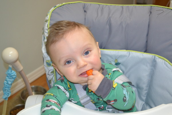 Ryan's first solids - steamed carrots!