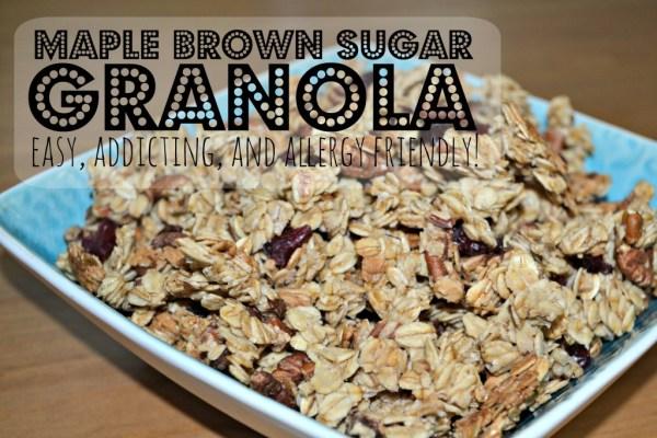 Easy Maple Brown Sugar Granola