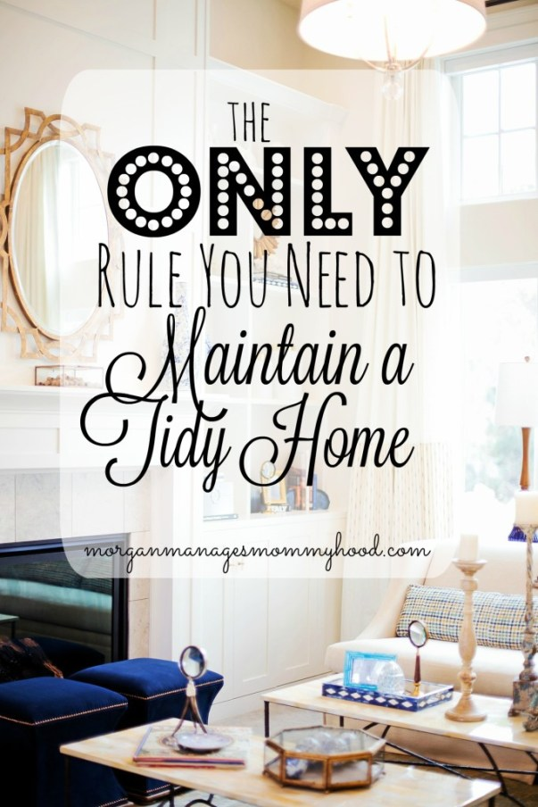 Are you overwhelmed by the idea of keeping up with your clean house? You only need to follow one simple rule to maintain your tidy home! Check out this post to learn what it is!