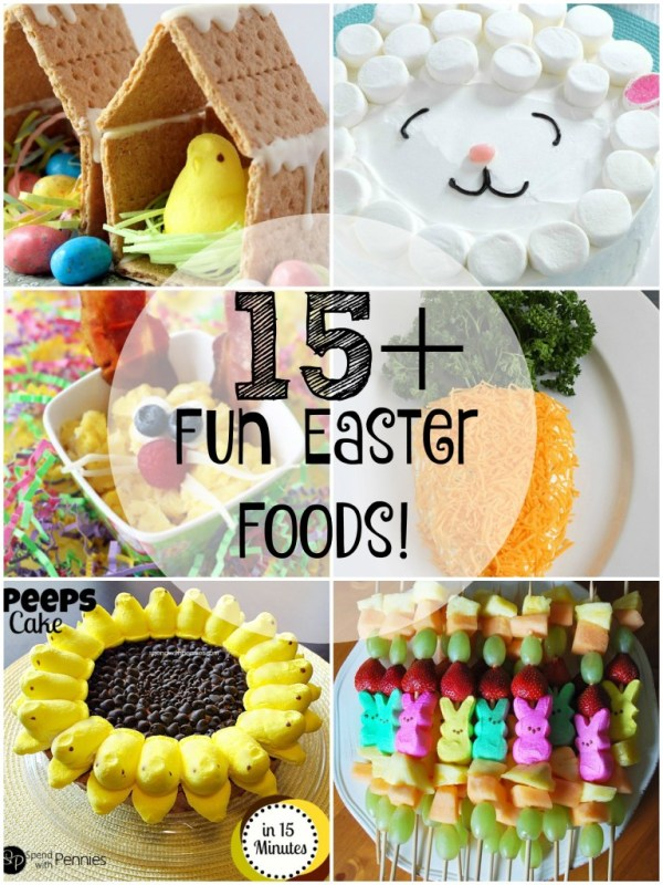 These fun Easter food inspiration ideas are sure to bring a smile to your holiday. Check out this post to find over 15 fun Easter Food ideas!