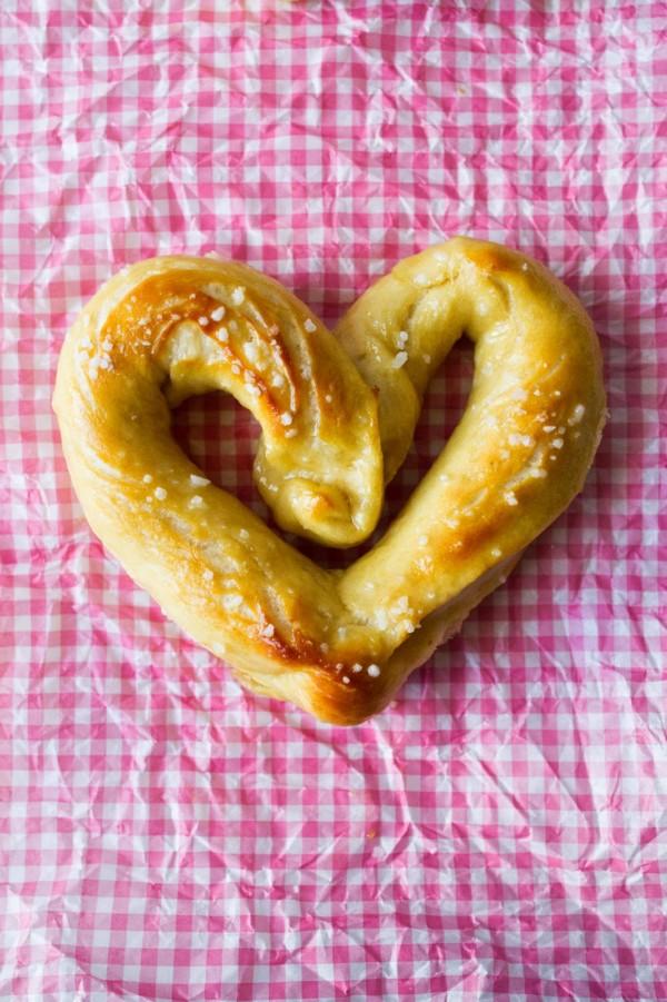heart shaped food Soft Pretzels