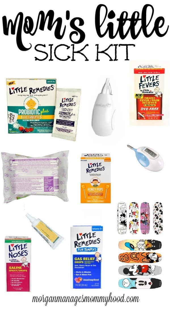 Are you ready if your child gets sick? Even if you live in a small space, you can still keep a sick kit of things you baby will need when sick. Click through or repin for later to see what should be in your Mom's little sick kit!