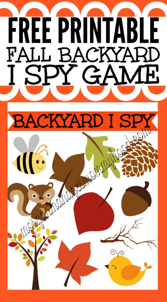 Looking for ways to entertain small children this fall? Check out my fun Fall Backyard I Spy Game printable and teach your kiddo all about the different sights of the season!