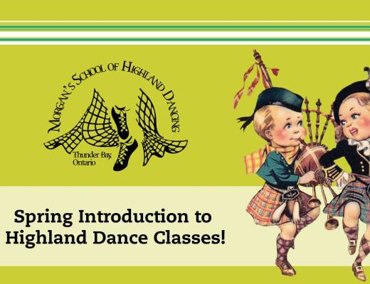 Intro to highland dance, Morgan's School 2017