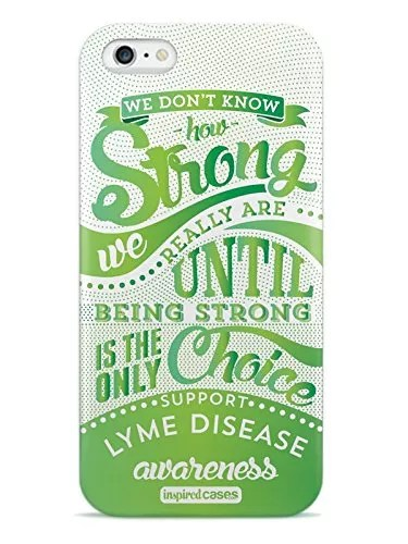 Inspired Cases 3D Textured How Strong – Lyme Disease Awareness Case for iPhone 6 Plus & 6s Plus