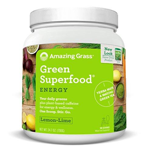 Amazing Grass Green Superfood Energy Lemon Lime, 100 Servings, 24.7 Ounces