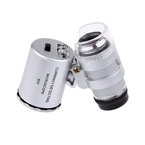 60X mini illuminated Jeweler LED UV Lens Loupe with Kare and Kind retail package (60X)