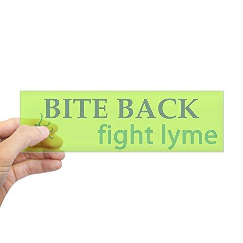CafePress – Bite Back: Fight Lyme Bumper Sticker – 10″x3″ Rectangle Bumper Sticker Car Decal
