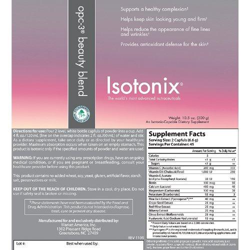 Isotonix Opc 3 Beauty Blend Supplement Month Serving 106 Oz