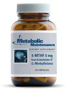Metabolic Maintenance -5- MTHF L-Methylfolate 5 mg, 90 capsules