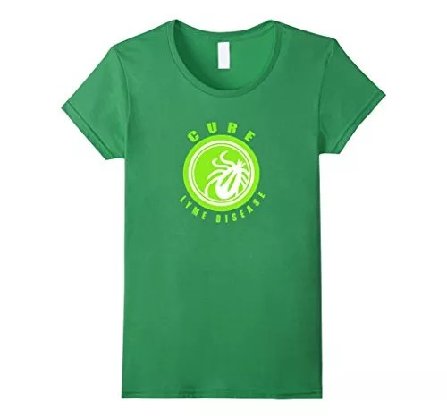 Women's Cure Lyme Disease - Awareness T-Shirt Small Grass - Morgellons  Survey