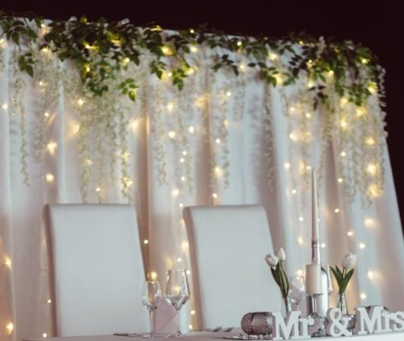 Bridal table background