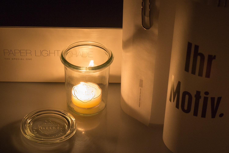 Paper Light Shades mit Logoeindruck als Werbegeschenk - by MORI Werbung & Fotografie