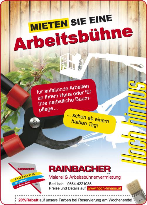 Einschaltung für Rainbacher