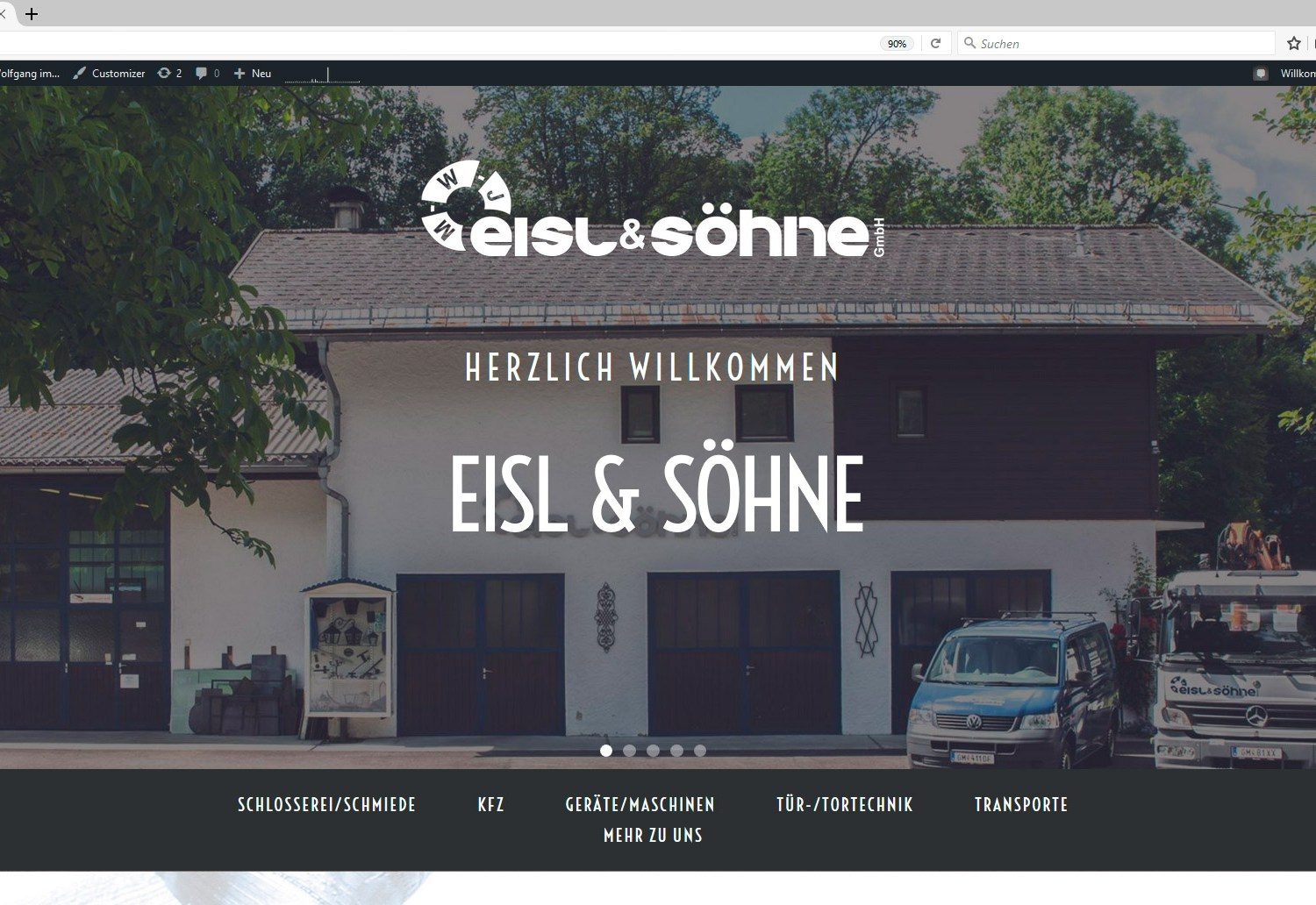 Eisl & Söhne Website