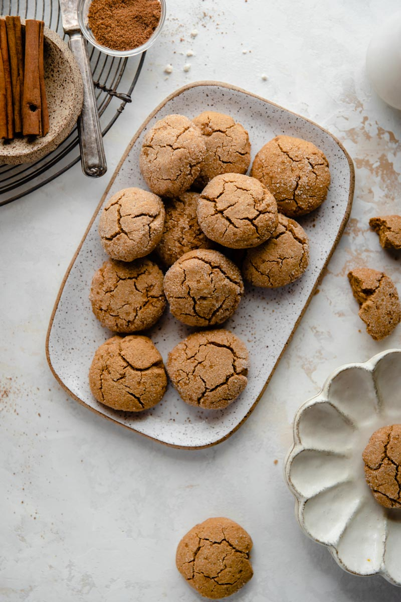 Soft on the inside and crispy on the outside, these Grain-Free Gingersnap Cookies are the perfect gluten-free holiday cookie everyone will love!