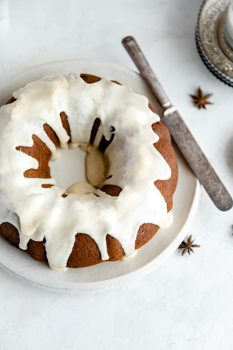 Moist and flavorful Sweet Potato Gingerbread Bundt Cake is the perfect grain free cake for the holidays! Made with sweet potato and cassava flour for the perfect gluten-free cake.