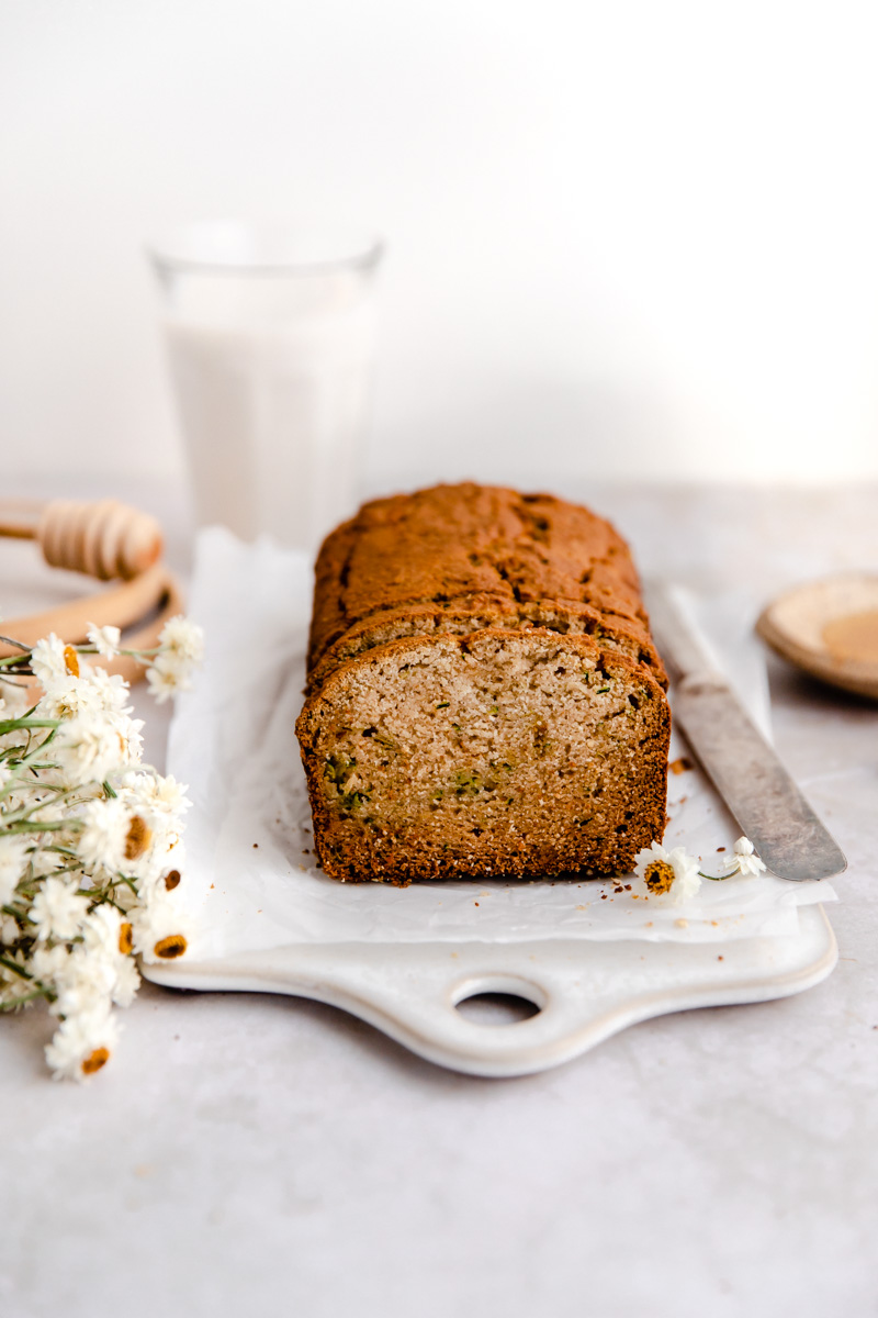 This Paleo Cassava Flour Zucchini Bread is made with cassava flour to stay grain and nut free, and is the perfect light snack with a cup of coffee!