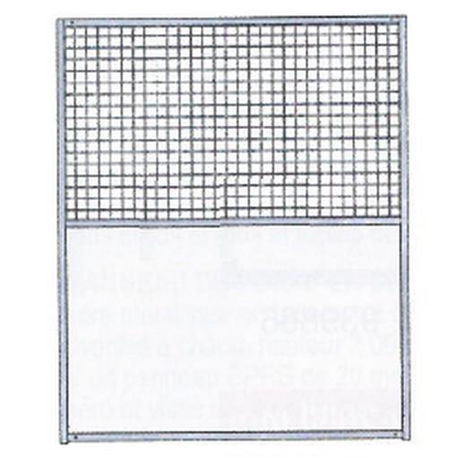 Panneaux de chenil mixte Polyester / Grillage - Hauteur 2 m