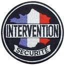 Ecusson rond INTERVENTION - SECURITE