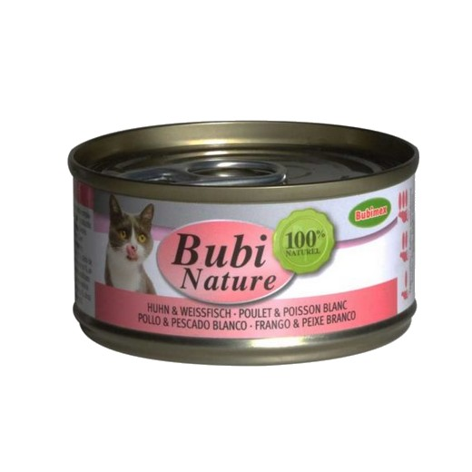 Bubi Nature chat, poulet et poisson blanc