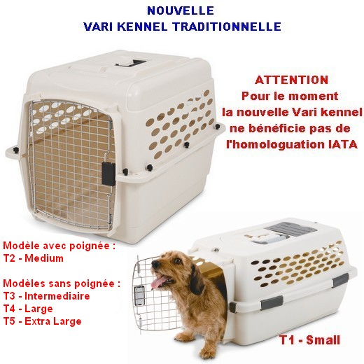 Cage de transport Vari Kennel Traditionnelle, chien et chat