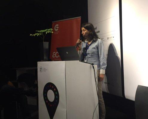 Laura Rubio presentando el proyecto en Bid16