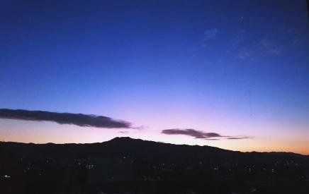 京都鴨川の日の出2015年