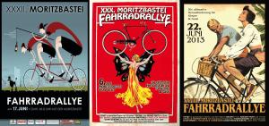 Plakate zur 28., 30. und 32. MB e.V. Fahrradrallye