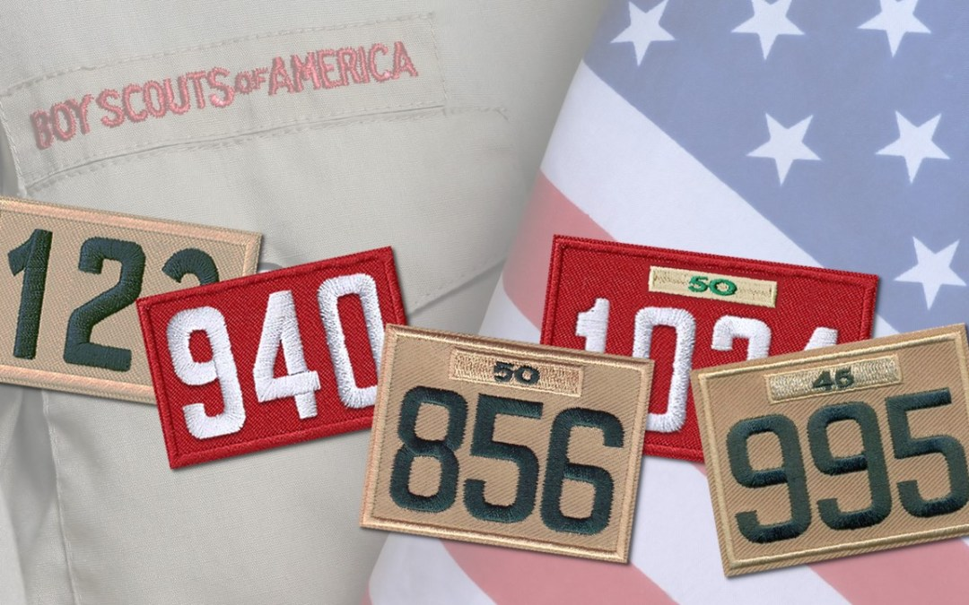 Custom BSA Unit Numeral Patches
