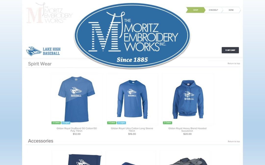 Custom Club Fundraising Stores From the Moritz Embroidery Works