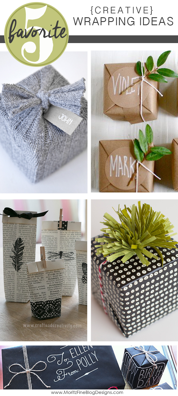Easy Creative Gift Wrap Ideas Friday Favorite 5 Moritz