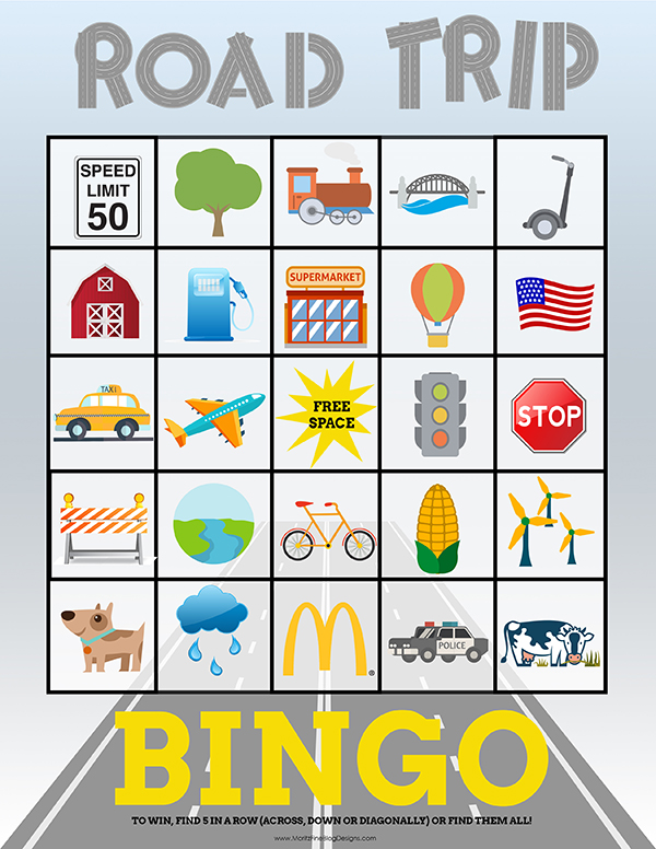 Travel Bingo Cards For Kids Perfect For Road Trips Free