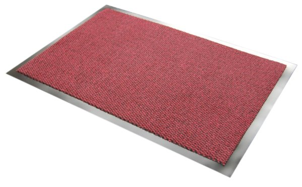 Morland Elemental Red PVC commercial Doormat on a white background