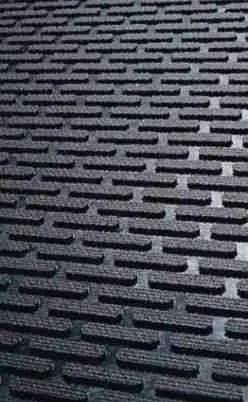 Close up of Access Approach Industrial Rubber door mat