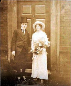 Wedding photo of Mr. and Mrs. J. H. Brumfitt