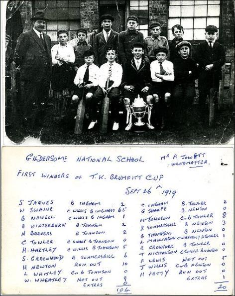 Gildersome National School-Winners of the T.K. Brumfitt Cup