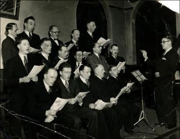 St. Pauls Church male voice choir at Drighlington Church Hall