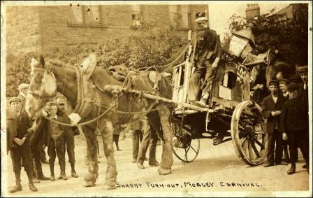 A Horse and Coach, described as a Shabby Turn-Out at a Carnival