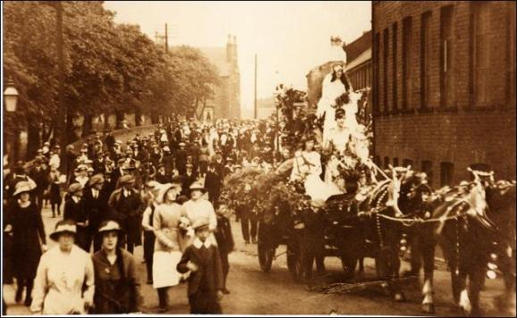 Part of a Carnival procession on Victoria Road