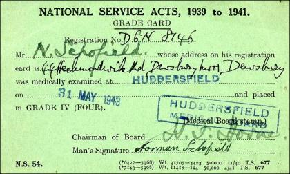 National Service Grade Card